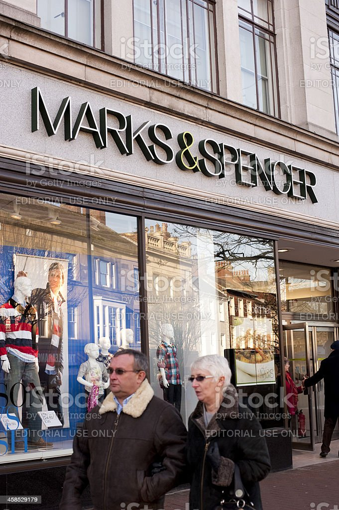 Marks and Spencer Shoppers stock photo