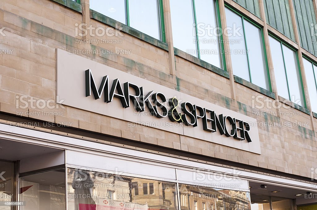 Marks and Spencer Sign stock photo