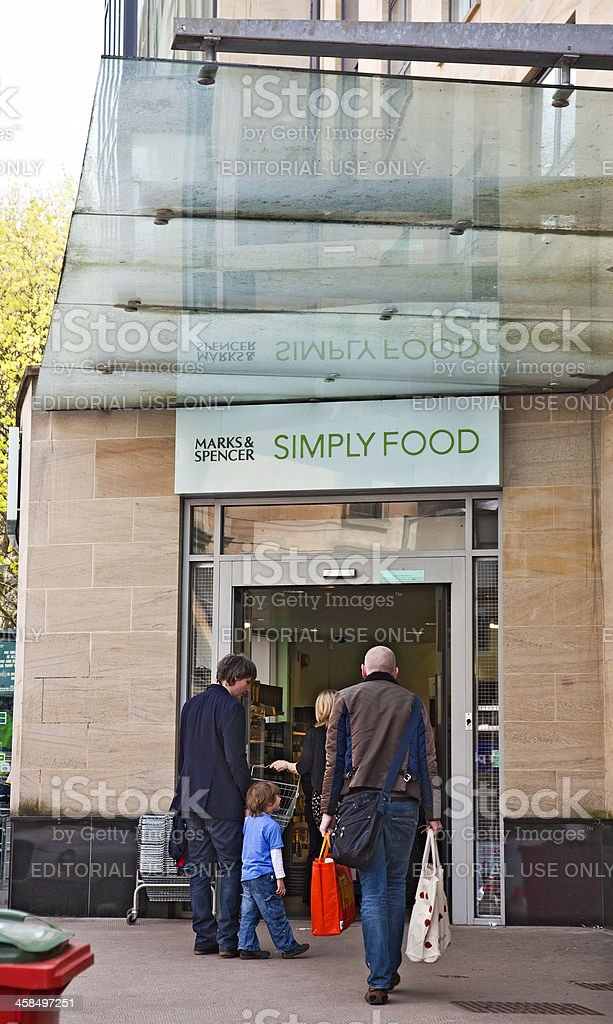 Marks and Spencer Simply Food shop, West End, Glasgow stock photo