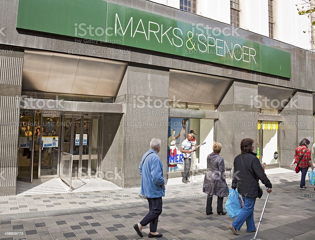 Marks and Spencer store front: Sauchiehall Street Glasgow stock photo