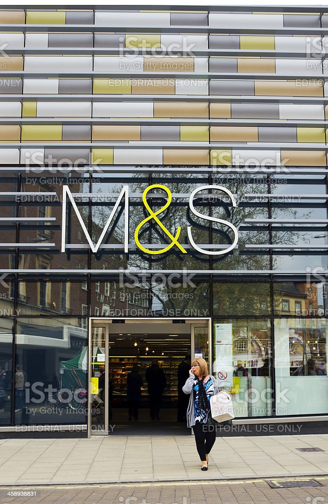 Marks and Spencer store, Norwich stock photo