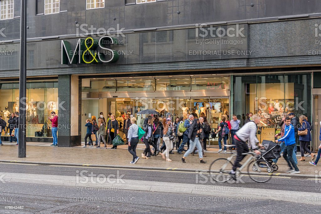 Marks and Spencer Storefront on Oxford Street - London stock photo