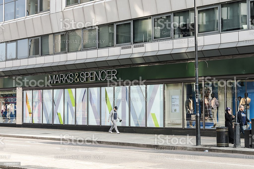 Marks and Spencer Storefront stock photo