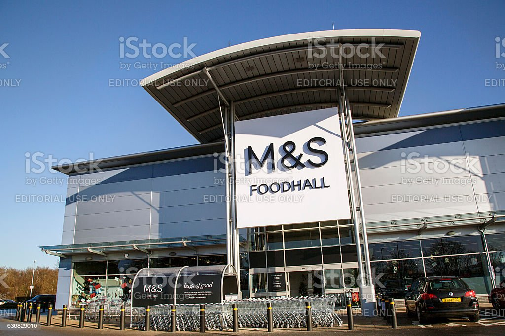 Marks and Spencers Food Hall stock photo