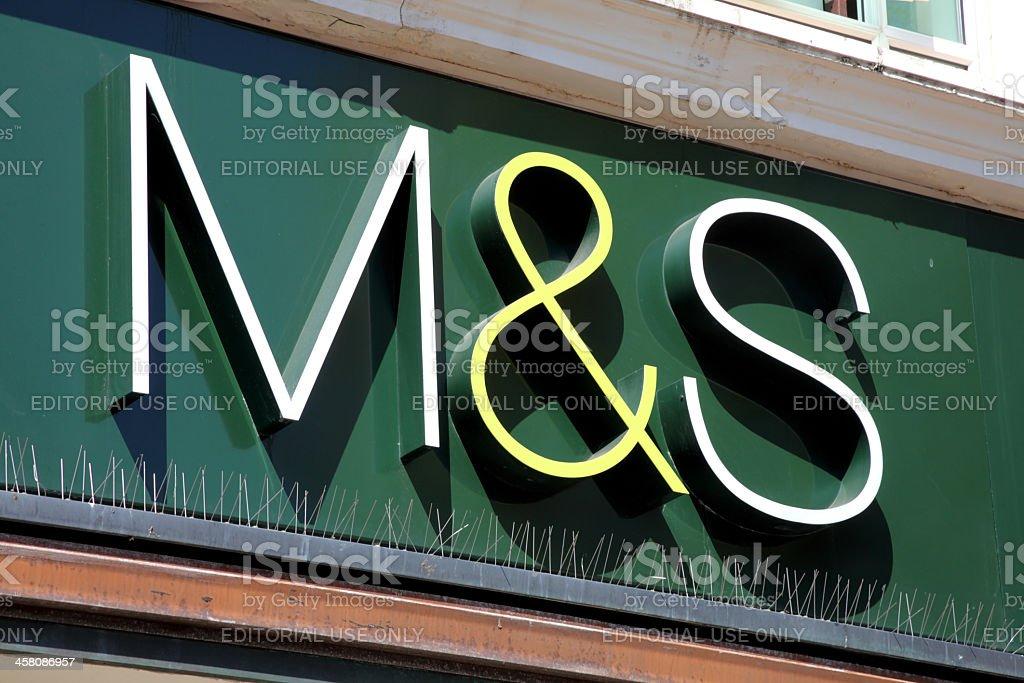 Marks & Spencer Sign stock photo