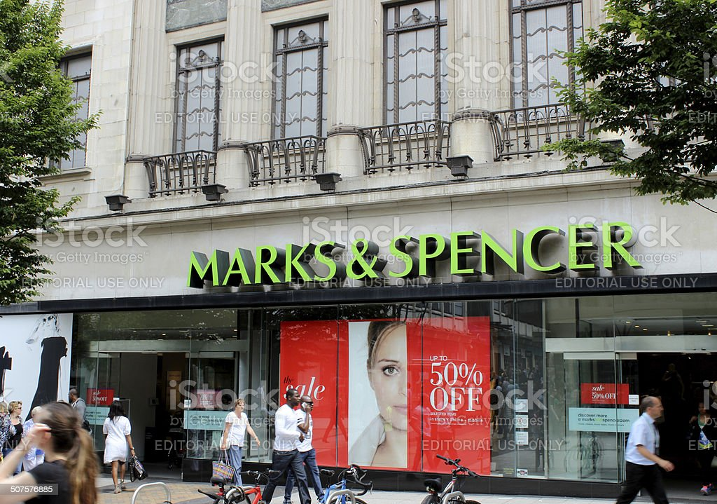Marks & Spencer Store Front stock photo