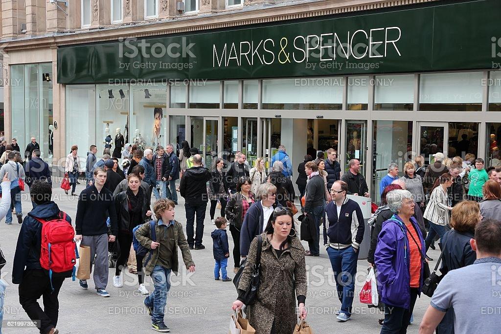 Marks Spencer store stock photo