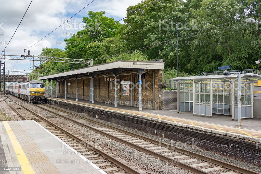 Marks Tey station on the Great Eastern Mainline stock photo