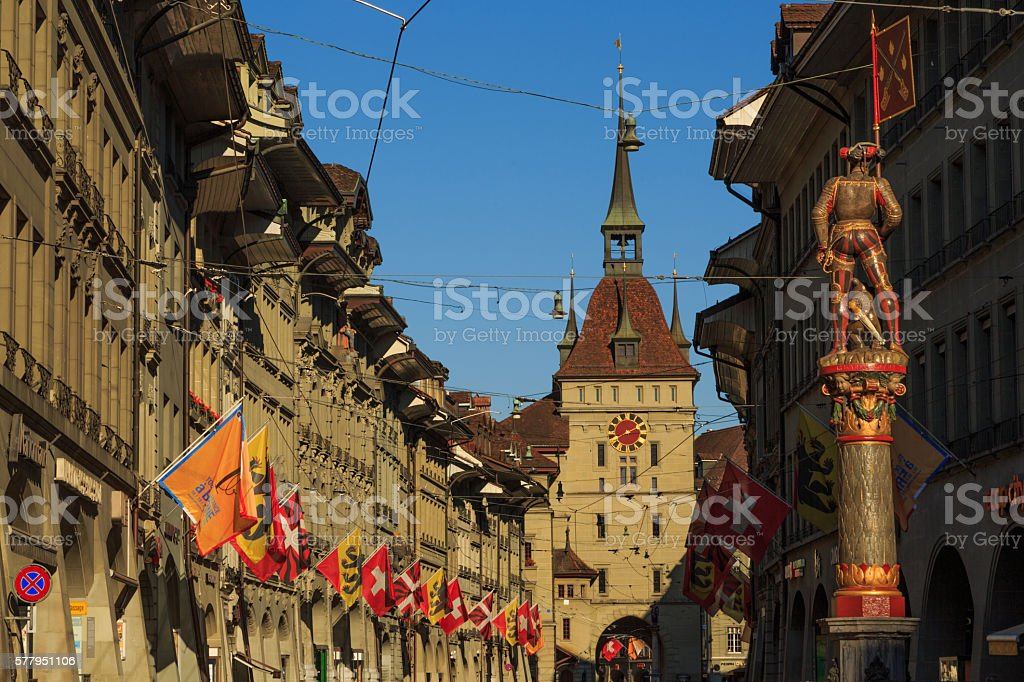 Marktgasse in Bern stock photo