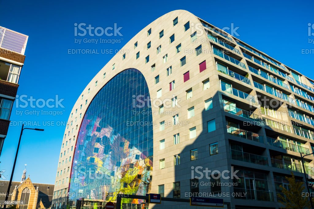 Markthal (Market Hall) Building in Rotterdam stock photo