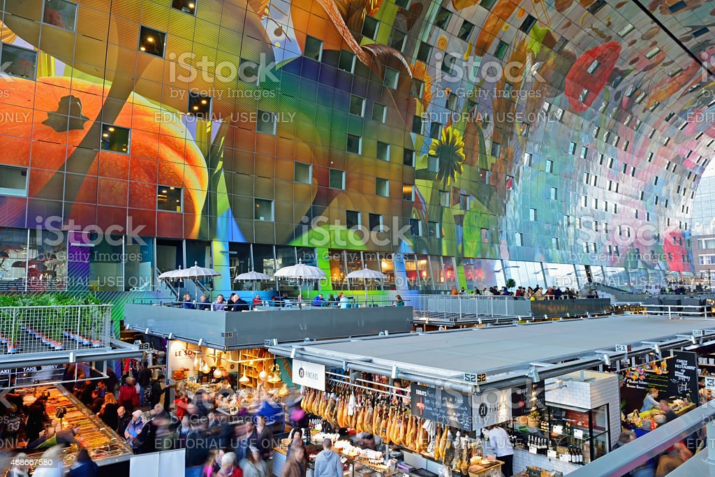 Markthal Rotterdam Netherlands stock photo