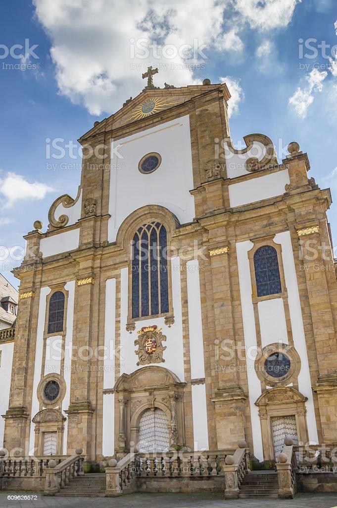 Marktkirche church in the historical center of Paderborn stock photo