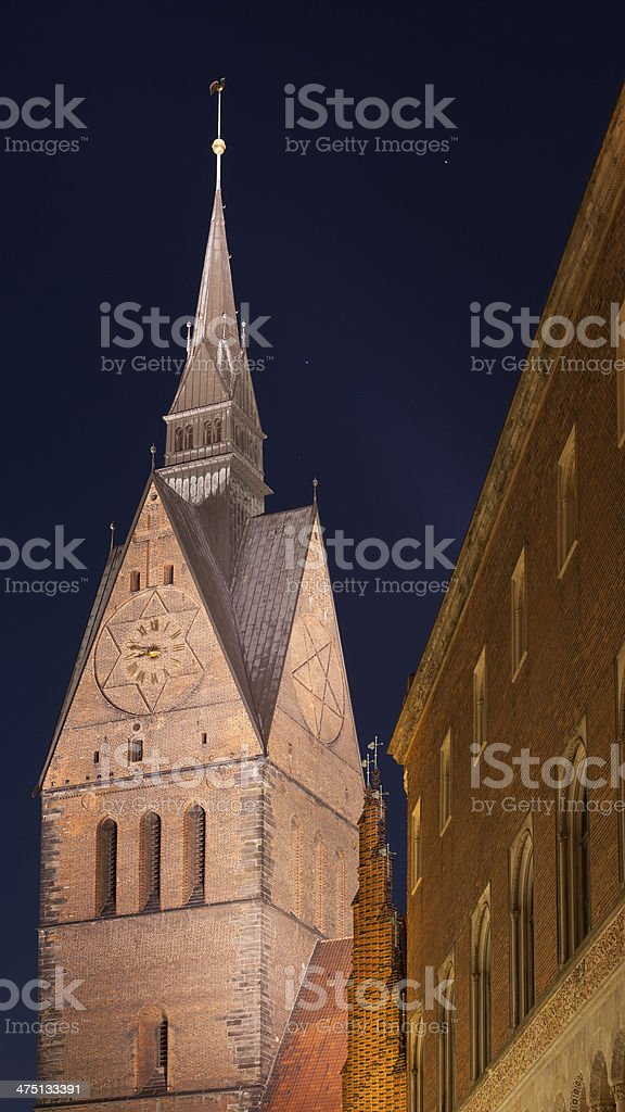 Marktkirche in Hannover, Germany stock photo