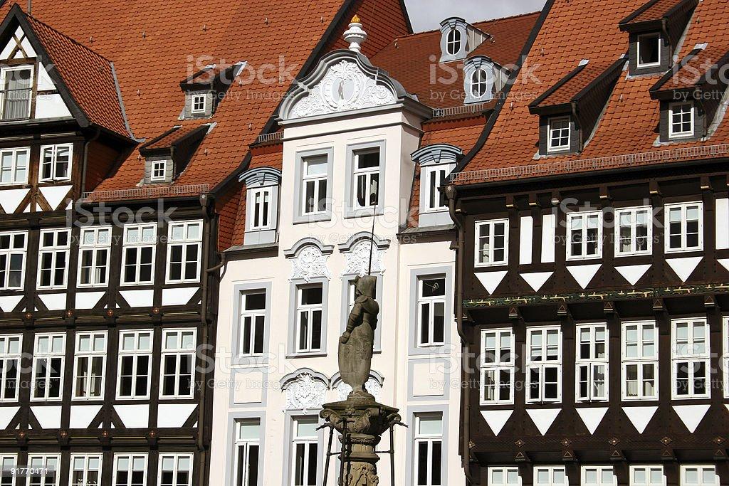 Marktplatz in Hildesheim royalty-free stock photo