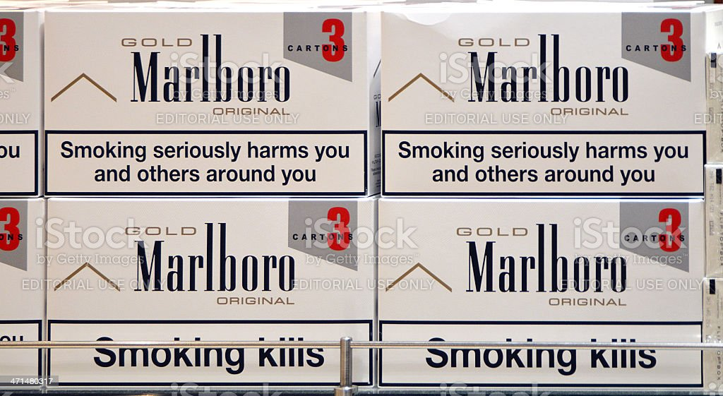 Marlboro Cartons stock photo