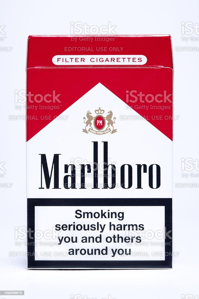 Marlboro Cigarette Pack stock photo