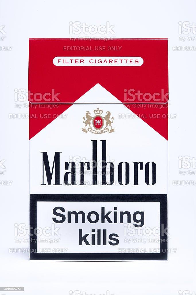 Marlboro Cigarette Pack royalty-free stock photo