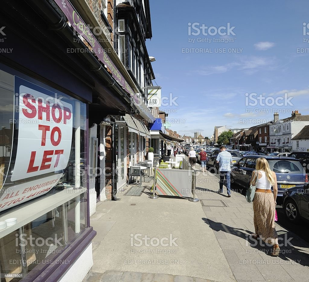 Marlborough High Street stock photo