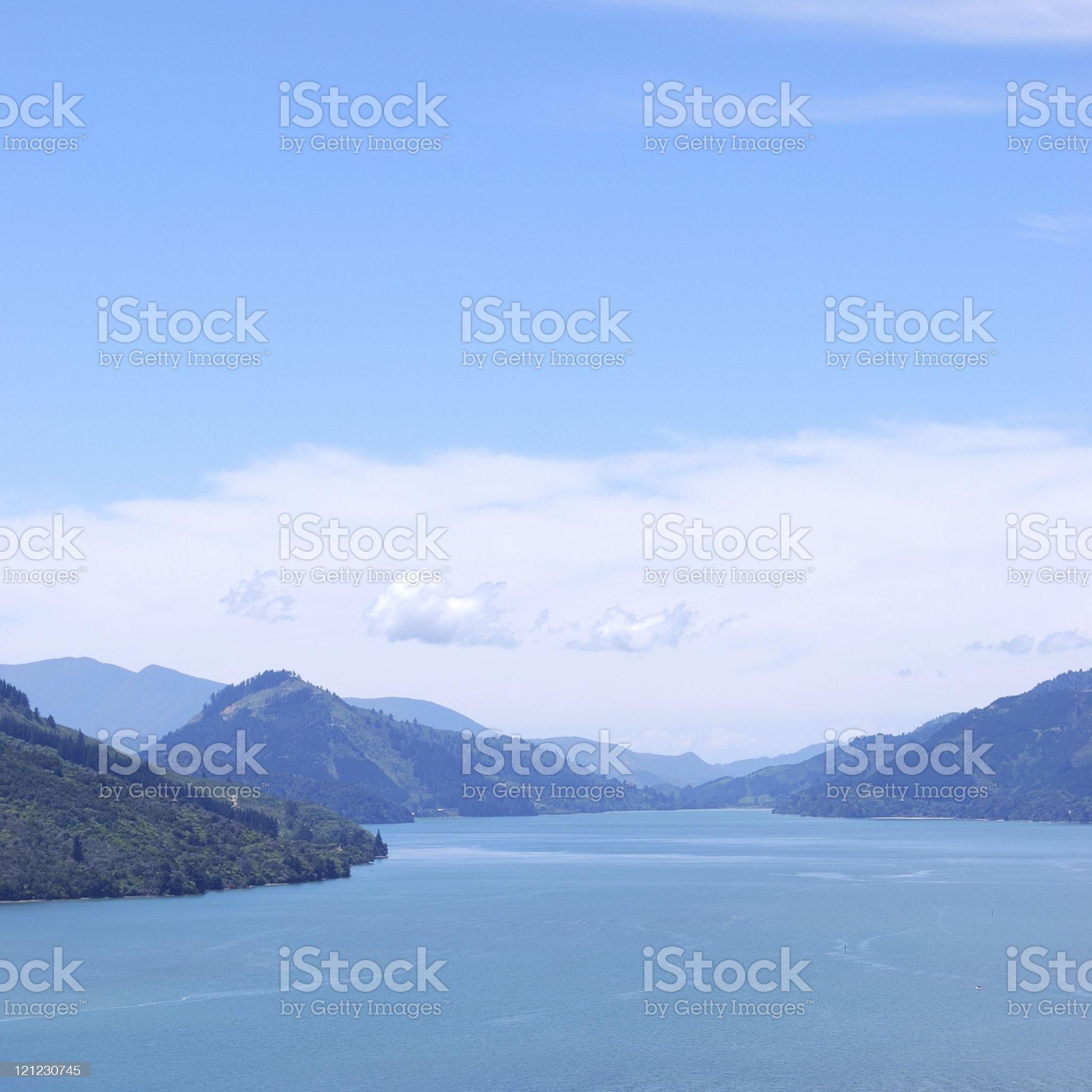 Marlborough Sounds, New Zealand royalty-free stock photo