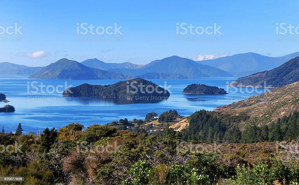 Marlborough Sounds, New Zealand stock photo
