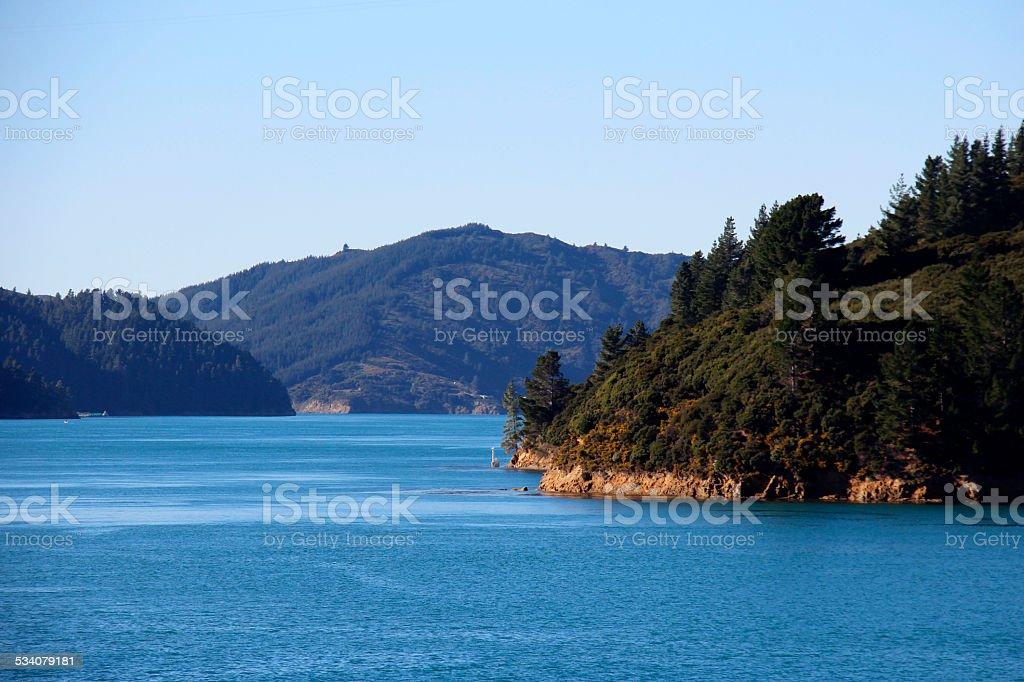 Marlborough Sounds, NZ stock photo