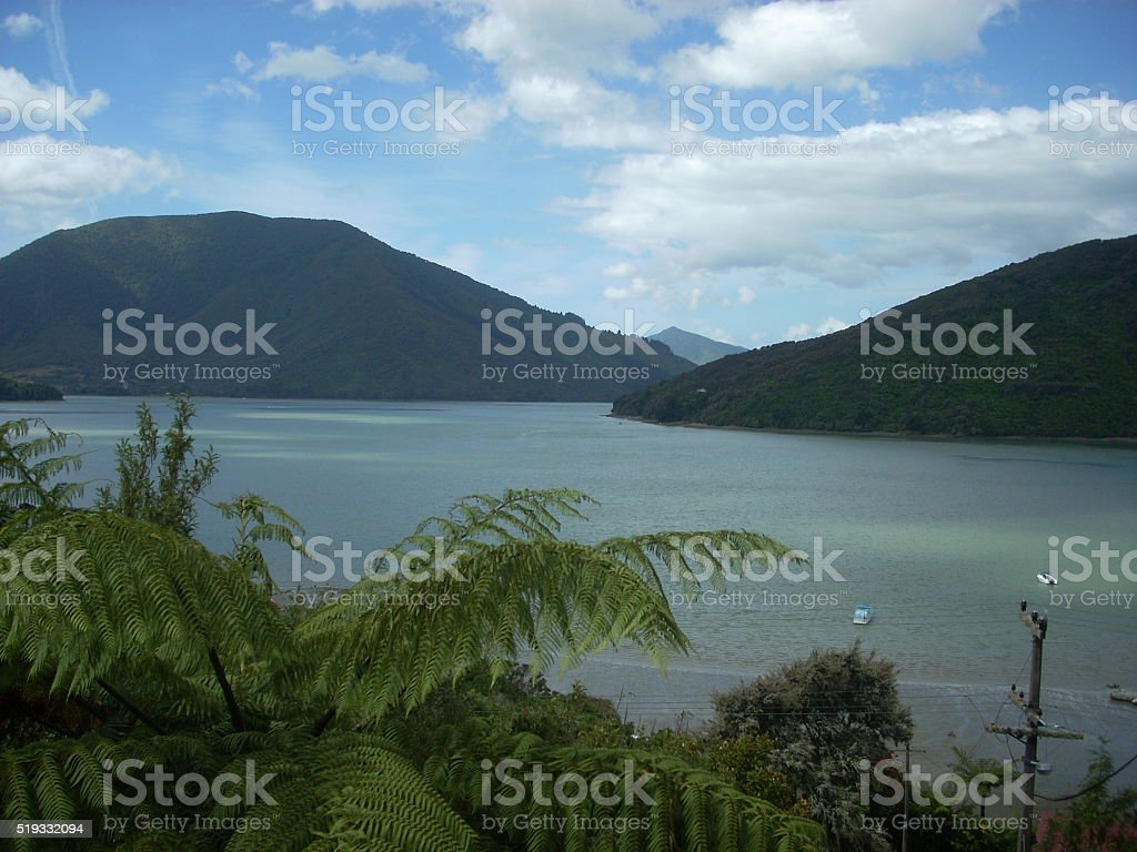 Marlborough Sounds stock photo