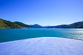 Marlborough Sounds seen from ferry New Zealand