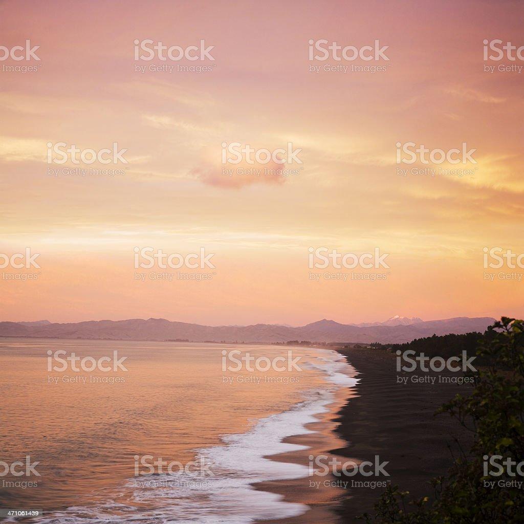 Marlborough Sunrise New Zealand royalty-free stock photo