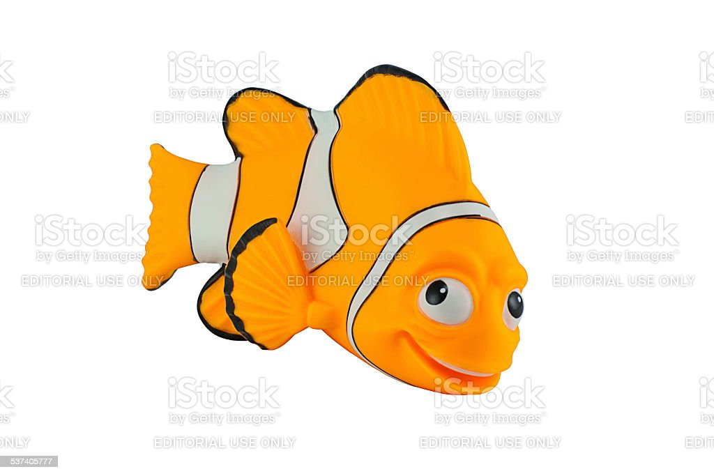 Marlin fish toy character from Finding Nemo stock photo