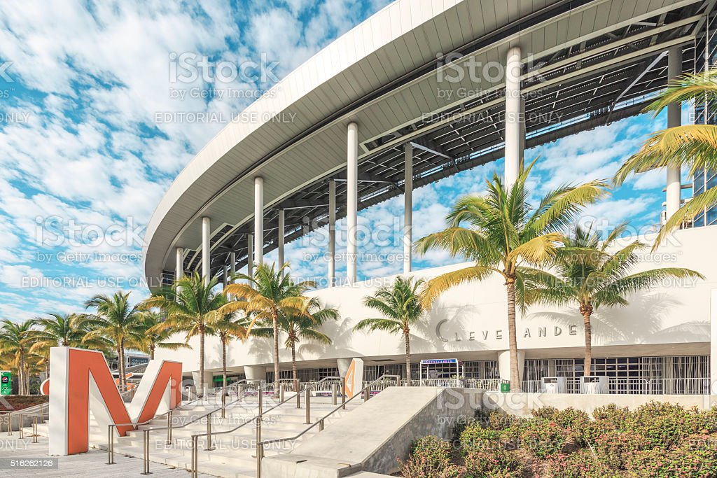 Marlins Park. Miami Baseball Stadium. stock photo