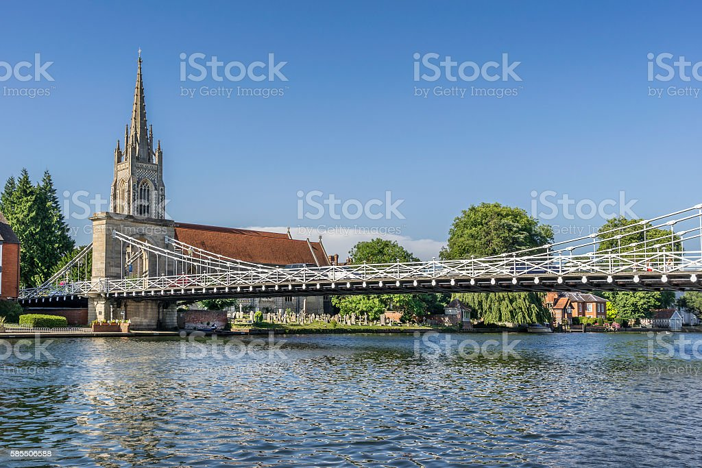 Marlow Bridge on the Thames stock photo