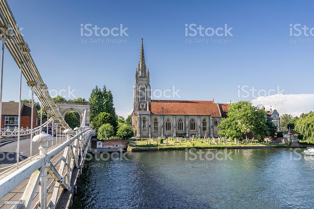 Marlow Bridge stock photo