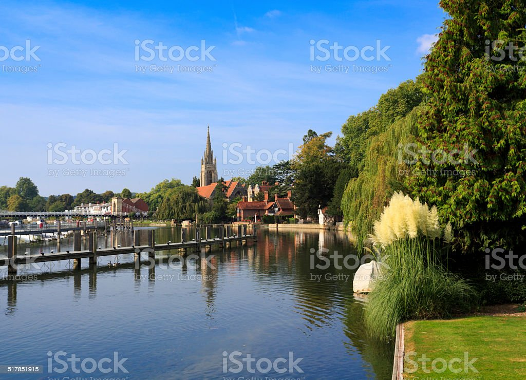 Marlow Church in Buckinghamshire stock photo