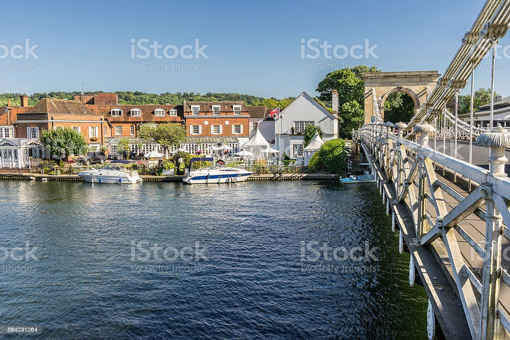 Marlow in the county of Buckinghamshire stock photo
