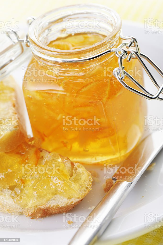 Marmalade and bread royalty-free stock photo