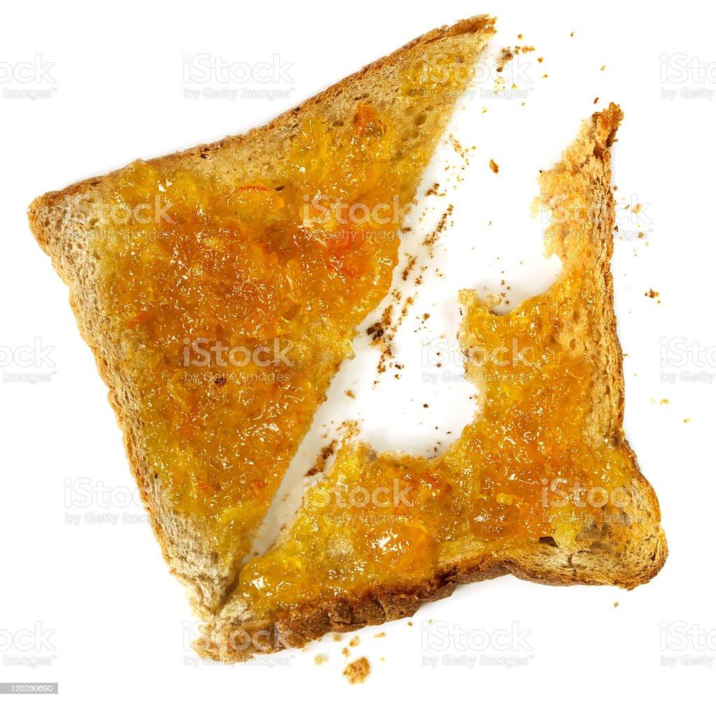 Marmalade Toast stock photo
