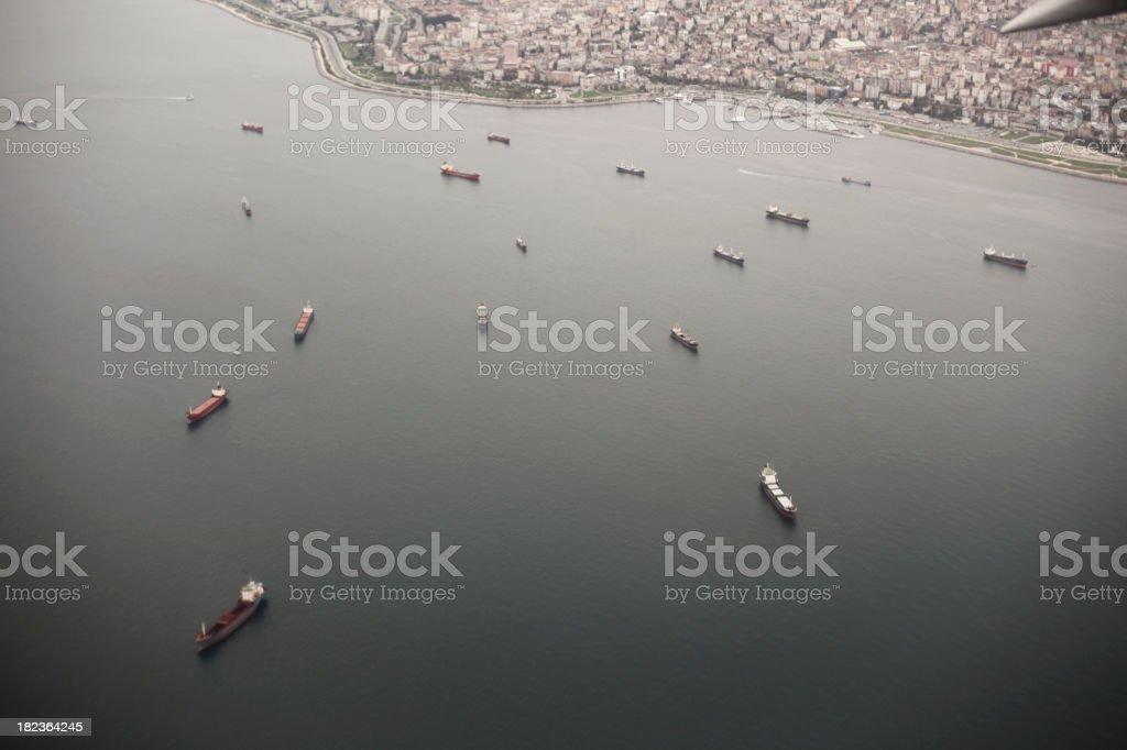 Marmara and Istanbul royalty-free stock photo
