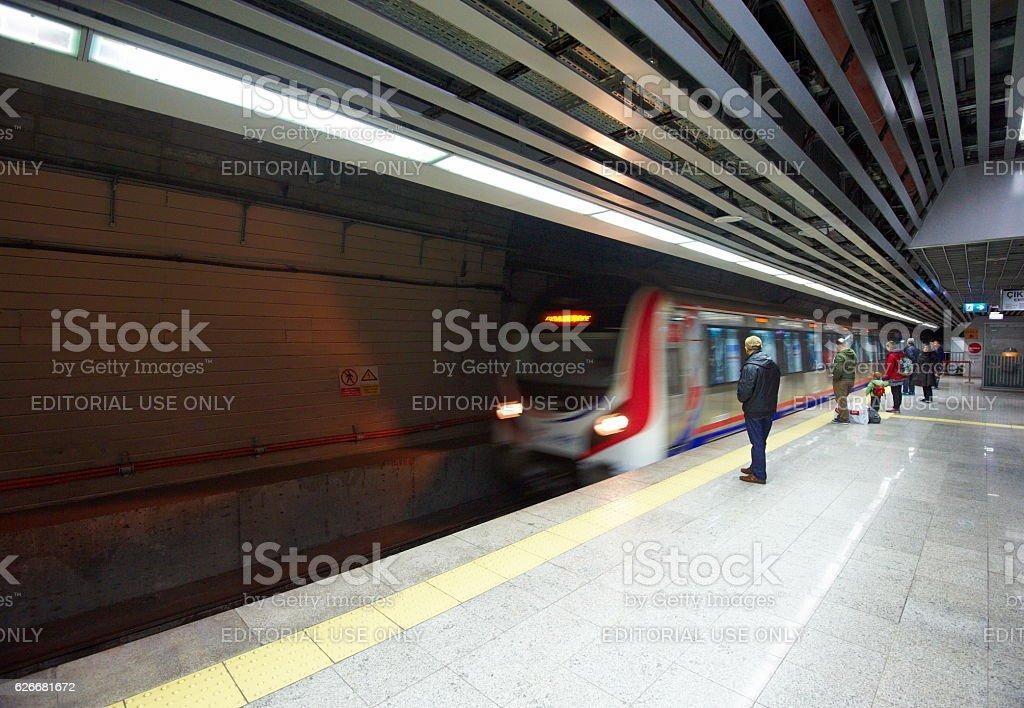 Marmaray train stock photo