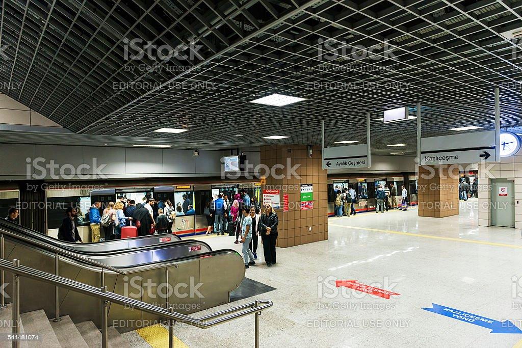 Marmaray train station stock photo