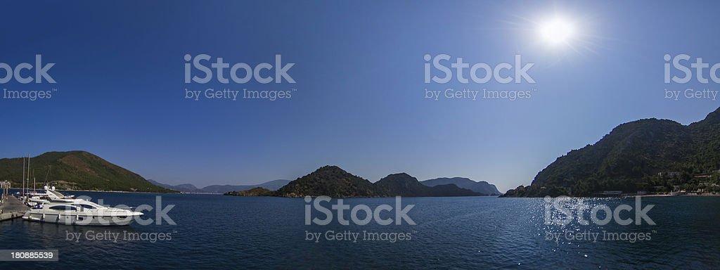 Marmaris Panorama stock photo