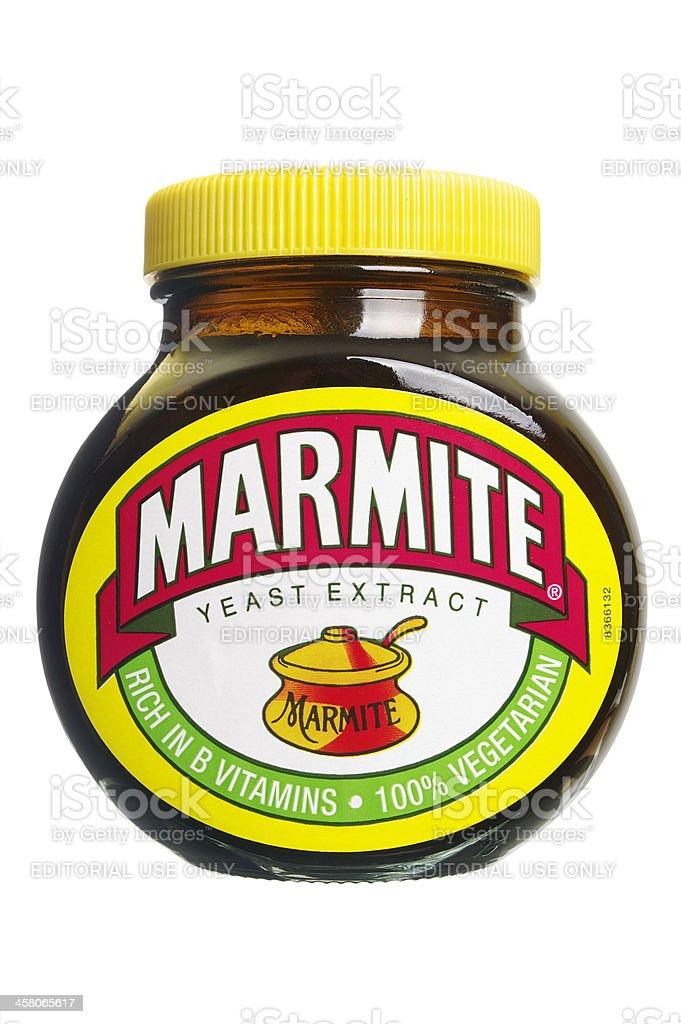 Marmite In Glass Jar stock photo