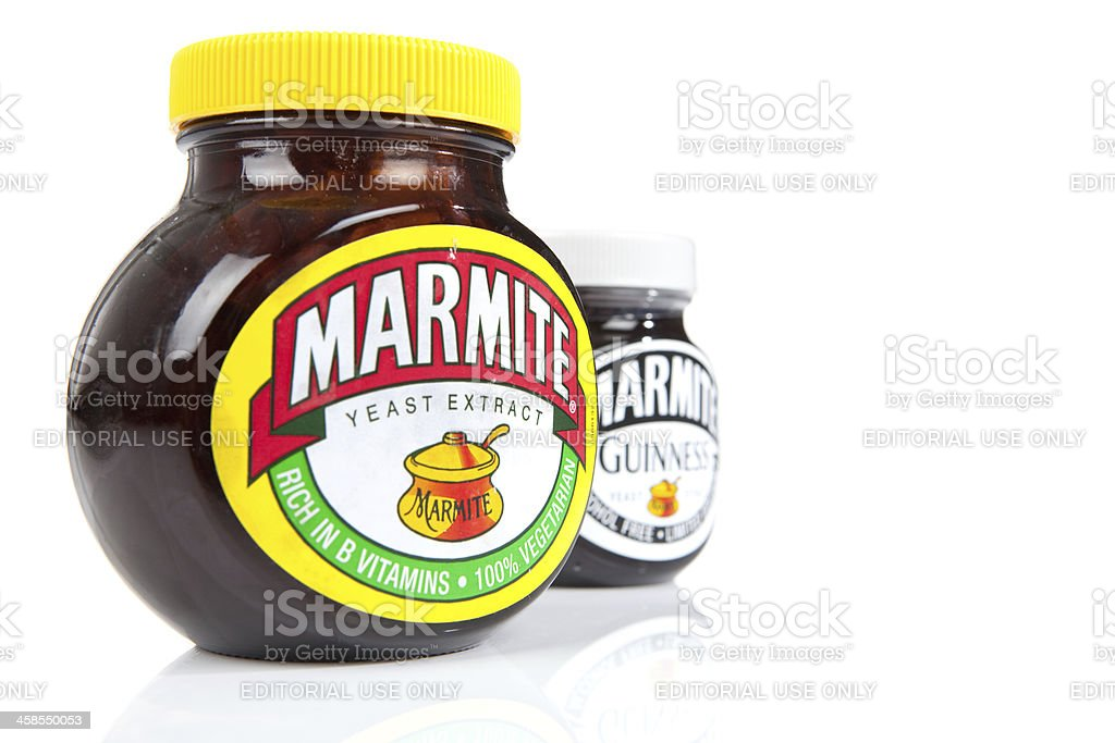 Marmite - Limited Edition And Usual Jar royalty-free stock photo