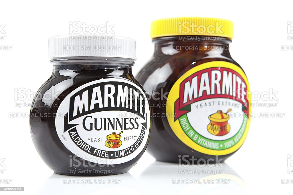Marmite - Limited Edition And Usual Jar stock photo