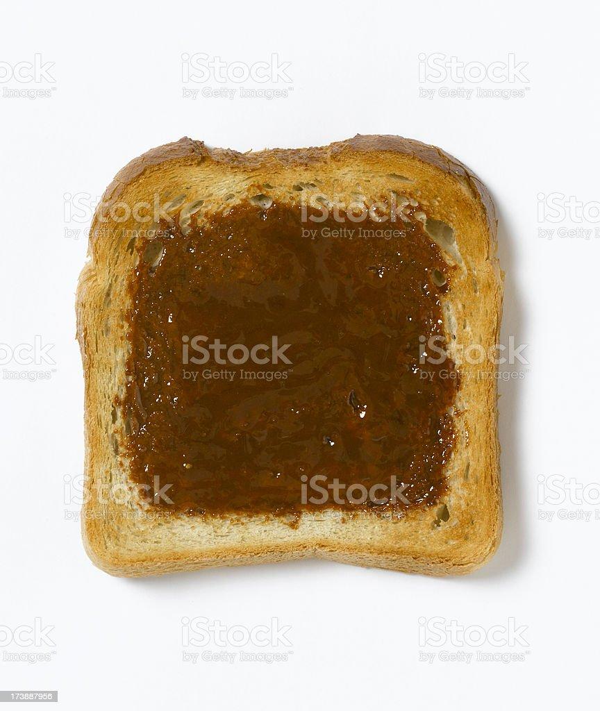 marmite on toast stock photo
