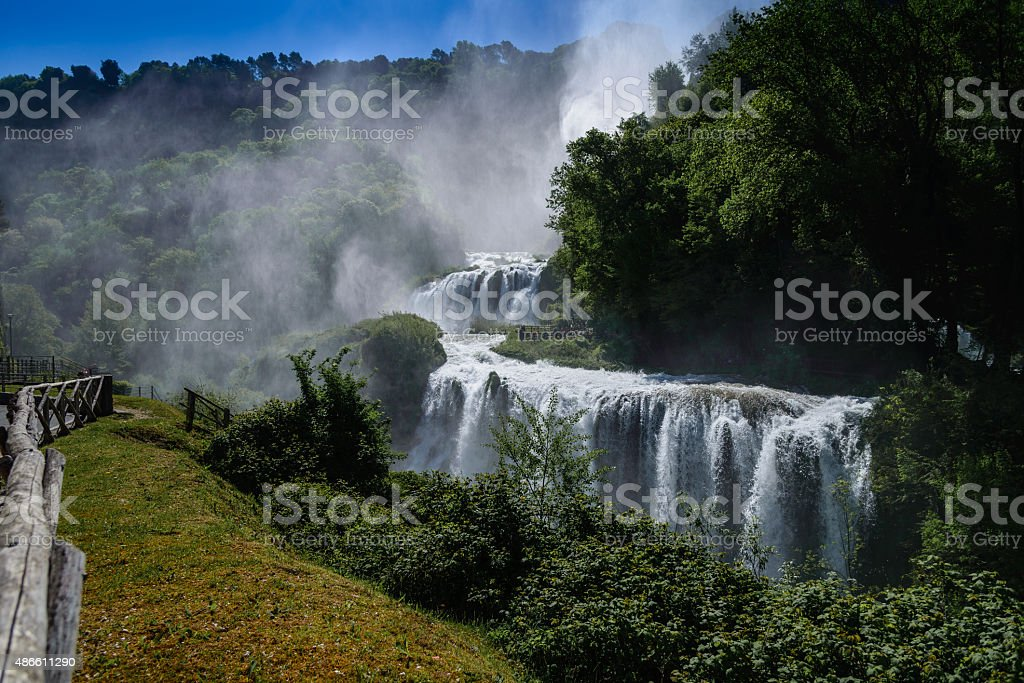Marmore Falls in Central Italy stock photo