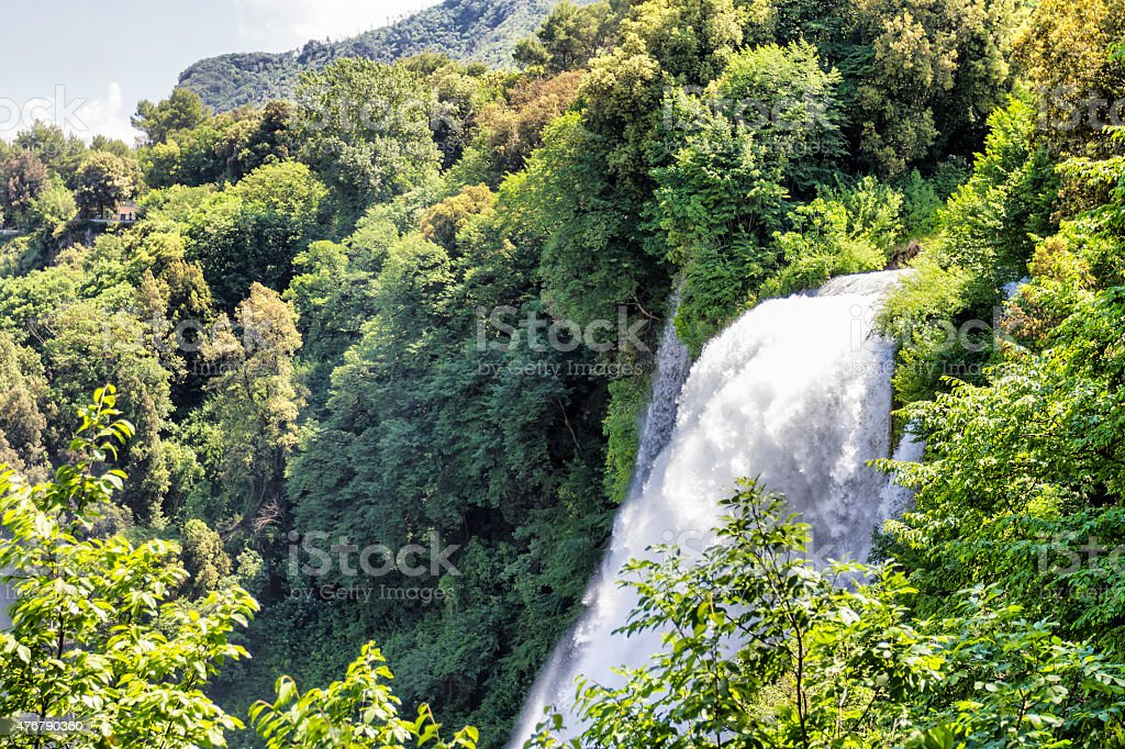 Marmore's waterfalls (Terni - Italy) stock photo