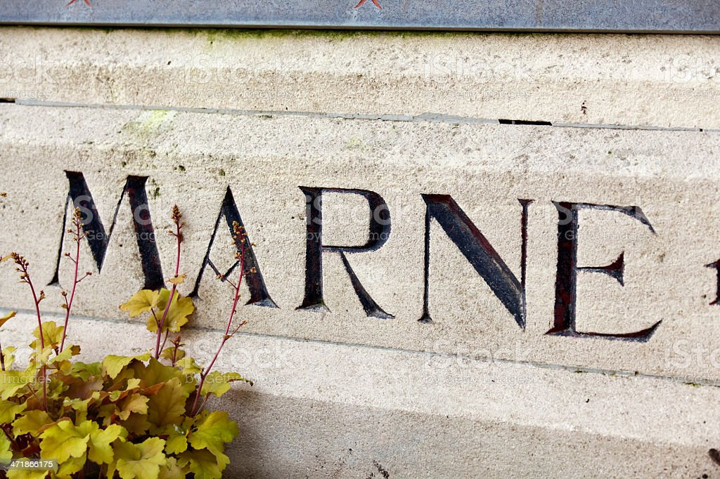 Marne Memorial royalty-free stock photo