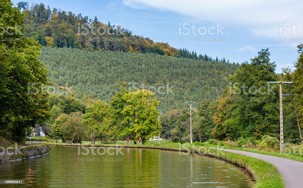 Marne - Rhine Canal in Vosges mountains, Alsase, France stock photo