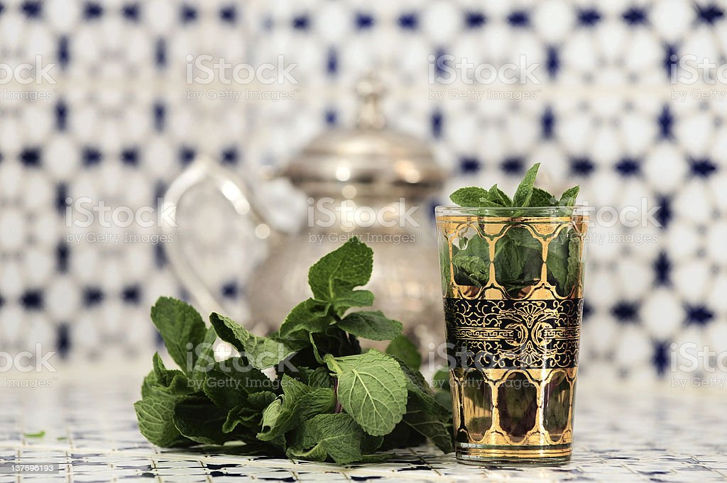 maroccan mint tea II stock photo