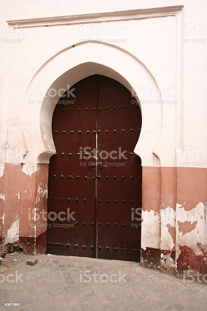 Marocco door royalty-free stock photo
